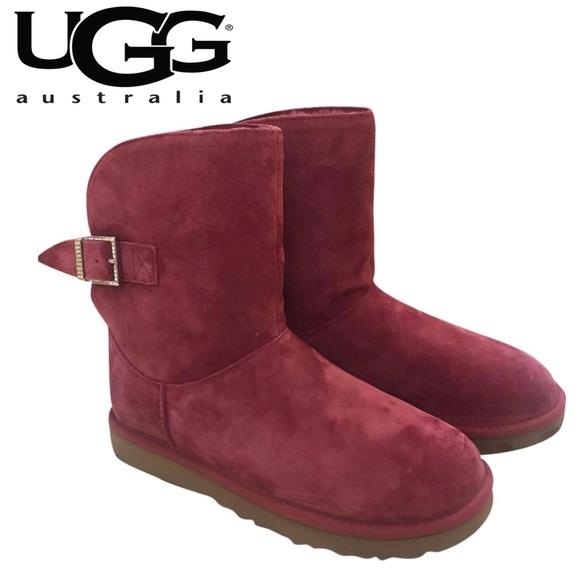 fb52c23c15b UGG Remora Magenta (Deep Pink) Crystal Buckle Boot NWT